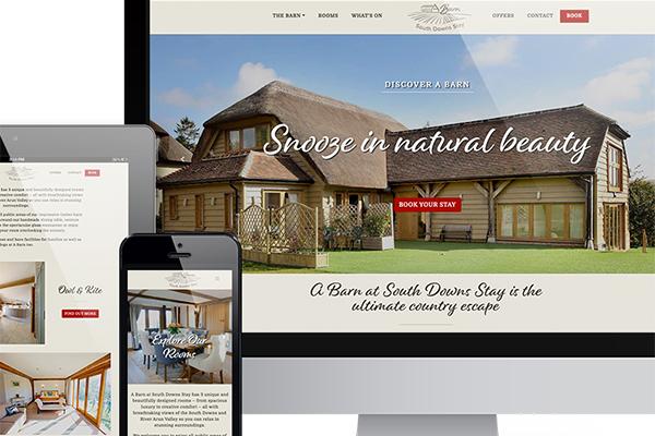 b&b holiday accommodation website design